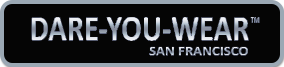 logo for Sarine Voltage's line of trendsetting and rocking clothing and accessories, namely Dare-You-Wear (TM) San Francisco