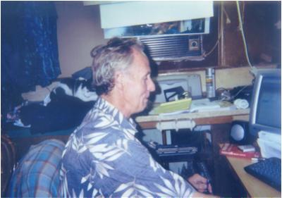 GARY WILCOX hard at work editing WHITESTARR videos