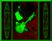 Jimmy Page psychedelisized ala Sarine for her cover of COMMUNICATION BREAKDOWN