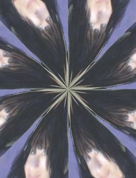 a kaleidoscope of Sarine Voltage, headshot